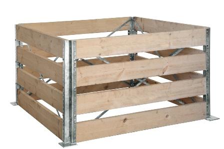 Kompostér - stavebnicová konstrukce 1x1m